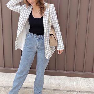 Danielle Bernstein Structured Plaid Blazer NWT